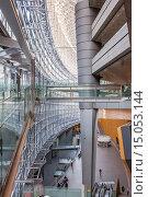 Купить «Tokyo International Forum, Congress center by architect Rafael Vinoly, Tokyo, Japan.», фото № 15053144, снято 15 июля 2020 г. (c) age Fotostock / Фотобанк Лори