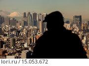 Купить «Skyscrapers of Shinjuku and Mount Fuji, Tokyo, Japan.», фото № 15053672, снято 25 февраля 2020 г. (c) age Fotostock / Фотобанк Лори