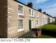 Купить «Terraced housing in the nineteenth century planned Railway Village built for workers in the Great Western Railway, Swindon, England, UK», фото № 15095276, снято 22 сентября 2014 г. (c) age Fotostock / Фотобанк Лори