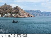 Купить «Крым. Балаклава. Вид на Генуэзскую крепость», фото № 15173028, снято 18 сентября 2014 г. (c) Александр  Буторин / Фотобанк Лори