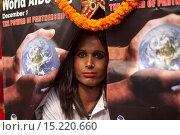 Купить «A Bangladeshi transexual attends a rally on the occasion of the World Aids Day in Dhaka, Bangladesh, 01 December 2014. According to latest government figures...», фото № 15220660, снято 1 декабря 2014 г. (c) age Fotostock / Фотобанк Лори