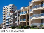 Australia, South Australia, Gelnelg, buildings by the Glenelg Marina. Стоковое фото, фотограф Walter Bibikow / age Fotostock / Фотобанк Лори