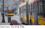 Купить «Time-lapse: Krakowskie Przedmiescie in Warsaw, Poland», видеоролик № 15314756, снято 28 ноября 2015 г. (c) BestPhotoStudio / Фотобанк Лори