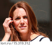 Купить «Catherine, Duchess of Cambridge attends the launch of the British America's Cup boat in Greenwich Featuring: Catherine Middleton,Kate Middleton,Duchess...», фото № 15319312, снято 10 июня 2014 г. (c) age Fotostock / Фотобанк Лори