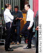 Купить «Tom Hardy spotted in East London on set filming 'Legend,' where he plays both the Kray twins, Ronnie and Reggie. After a day of filming he greets awaiting...», фото № 15340640, снято 23 июня 2014 г. (c) age Fotostock / Фотобанк Лори