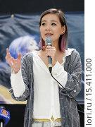 Купить «Taiwanese singer Deserts Chang, aka Desserts Xuan, aka Zhang Xuan, pre-concert press conference at Metro Square. Featuring: Desserts Chang Where: Toronto...», фото № 15411000, снято 23 августа 2014 г. (c) age Fotostock / Фотобанк Лори