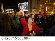 Купить «On 7 jan 2015, twenty thousand people demonstrated in Amsterdam against the killing of of the ten cartoonists of the french magazine Charlie Hebdo on 6 jan 2015.», фото № 15505884, снято 8 января 2015 г. (c) age Fotostock / Фотобанк Лори