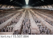 Купить «Museum of Qin Terra cotta Warriors and Horses, Terracotta army in Xi´an, Shaanxi, China 2014.», фото № 15507884, снято 23 октября 2014 г. (c) age Fotostock / Фотобанк Лори
