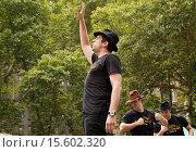 Купить «Zach Braff and the cast of Bullets Over Broadway perform in 106.7 LITE-FM's Broadway in Bryant Park concert series, week 3. Featuring: Nick Cordero Where...», фото № 15602320, снято 24 июля 2014 г. (c) age Fotostock / Фотобанк Лори