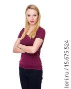Купить «Caucasian young woman», фото № 15675524, снято 13 ноября 2019 г. (c) PantherMedia / Фотобанк Лори