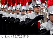 Купить «London, 1st January 2015. New Year´s day Parade from Piccadilly to Parliament Square. James Bowie High School marching Band from Austin, Texas.», фото № 15725916, снято 1 января 2015 г. (c) age Fotostock / Фотобанк Лори
