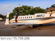 Купить «Private Luxury Jet aircraft at Hilton Head Airport SC.», фото № 15739296, снято 24 апреля 2014 г. (c) age Fotostock / Фотобанк Лори