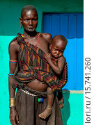 Купить «Portrait Of A Woman and Baby From The Mursi Tribe, Jinka Town, Omo Valley, Ethiopia.», фото № 15741260, снято 17 января 2015 г. (c) age Fotostock / Фотобанк Лори