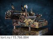 Купить «Пишущая машинка в ретро-футуристическом стиле», фото № 15766884, снято 29 ноября 2015 г. (c) Валерий Александрович / Фотобанк Лори