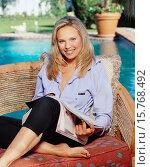 Actress Kari Michaelsen in Lavender Jacket. Стоковое фото, фотограф Adam Knott OUTLINE / age Fotostock / Фотобанк Лори