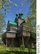 Купить «Вид на Успенскую церковь в селе Нелазском (Вологодская область)», эксклюзивное фото № 15887236, снято 18 мая 2014 г. (c) Самохвалов Артем / Фотобанк Лори