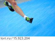 Купить «Close up of Running Feet.», фото № 15923204, снято 16 ноября 2014 г. (c) age Fotostock / Фотобанк Лори