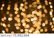 Купить «blurred golden lights bokeh», фото № 15992664, снято 20 ноября 2015 г. (c) Syda Productions / Фотобанк Лори