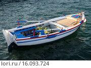 Купить «Small fishing boat in the port of Pythagorio, Samos island, North Aegean islands, Greece, Europe», фото № 16093724, снято 5 июля 2014 г. (c) age Fotostock / Фотобанк Лори