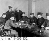 Купить «Boston, Massachusetts: November 26, 1925.Boston firemen learning telegraphy.», фото № 16093832, снято 17 февраля 2020 г. (c) age Fotostock / Фотобанк Лори