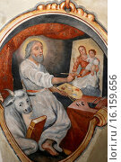 Купить «Fresco in Maria Assunta church evangelist Saint Luke (symbol the bull), as an artist.», фото № 16159656, снято 15 августа 2018 г. (c) age Fotostock / Фотобанк Лори