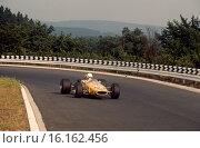 German GP, F2 class. Nurburgring 3rd August 1969. Xavier Perrot, Brabham BT23C, finished 6th. Стоковое фото, фотограф GP Library \ UIG / age Fotostock / Фотобанк Лори