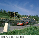 Andrea de Adamich-Jean Rolland's Alfa Romeo T33 racing in the Targa Florio, Sicily 1967. Стоковое фото, фотограф GP Library \ UIG / age Fotostock / Фотобанк Лори