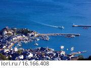 Купить «Japan, Sanyo Region, Hiroshima Prefecture, Fukuyama, Port of Tomonoura.», фото № 16166408, снято 20 сентября 2018 г. (c) age Fotostock / Фотобанк Лори