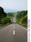Купить «Japan, San'yo Region, Okayama Prefecture, Maniwa, Road.», фото № 16166500, снято 23 октября 2018 г. (c) age Fotostock / Фотобанк Лори