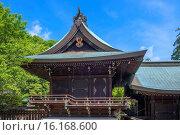 Купить «Japan, Sanyo Region, Okayama Prefecture, Okayama, View of Kibitsuhiko shrine.», фото № 16168600, снято 23 октября 2018 г. (c) age Fotostock / Фотобанк Лори