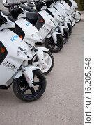 Купить «Electric Scooter to Rent in La Savina, Formentera, Balearic Islands, Spain.», фото № 16205548, снято 1 октября 2001 г. (c) age Fotostock / Фотобанк Лори