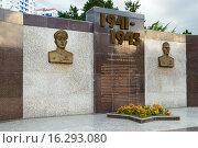 Купить «Военно-патриотические стелы. Волгоград», фото № 16293080, снято 17 июля 2015 г. (c) Владимир Арсентьев / Фотобанк Лори