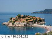 Остров Святого Стефана. Черногория (2009 год). Стоковое фото, фотограф Ирина Океанова / Фотобанк Лори