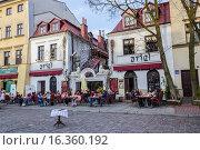 Купить «Ariel Restaurant at Kazimierz, the old Jewish district in Krakow, Poland, Europe.», фото № 16360192, снято 11 апреля 2015 г. (c) age Fotostock / Фотобанк Лори