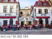 Купить «Ariel Restaurant at Kazimierz, the old Jewish district in Krakow, Poland, Europe.», фото № 16365184, снято 11 апреля 2015 г. (c) age Fotostock / Фотобанк Лори