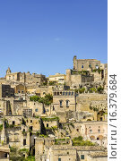 Купить «European Cultural Capital 2019, Sassi of Matera, Matera, Basilicata, Italy, UNESCO World Heritage Site.», фото № 16379684, снято 21 апреля 2014 г. (c) age Fotostock / Фотобанк Лори