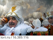 Купить «Belgium, carnaval of Binche. UNESCO World Heritage Parade Festival. Belgium, Walloon Municipality, province of Hainaut, village of Binche. The carnival...», фото № 16389116, снято 17 февраля 2015 г. (c) age Fotostock / Фотобанк Лори