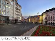 Купить «Москва, улица Большая Ордынка, осенний вечер», эксклюзивное фото № 16408432, снято 7 ноября 2015 г. (c) Dmitry29 / Фотобанк Лори