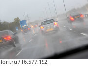 Купить «Cars Driving On A Rain Slicked Highway», фото № 16577192, снято 17 ноября 2006 г. (c) easy Fotostock / Фотобанк Лори