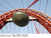 Купить «Живописный вантовый мост в Москве», фото № 16591024, снято 20 октября 2015 г. (c) Яременко Екатерина / Фотобанк Лори