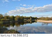 Купить «Май на реке Пре, Рязанская область, Мещера», фото № 16598072, снято 5 мая 2015 г. (c) Сергей Дрозд / Фотобанк Лори