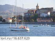 Desembocadura del Rio Bidasoa, Bahia de Txingudi, Hondarribia, Gipuzkoa, Euskadi. Стоковое фото, фотограф Javier Larrea / easy Fotostock / Фотобанк Лори