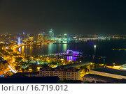 Купить «Ночной вид на Баку - столица Азербайджана», фото № 16719012, снято 23 сентября 2015 г. (c) Евгений Ткачёв / Фотобанк Лори