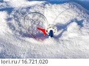 Купить «Зимняя рыбалка. Жерлица на щуку», фото № 16721020, снято 8 февраля 2014 г. (c) Евгений Ткачёв / Фотобанк Лори