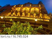 Купить «Exterior of Palau de la Musica Catalana in Barcelona», фото № 16745024, снято 9 августа 2015 г. (c) Яков Филимонов / Фотобанк Лори
