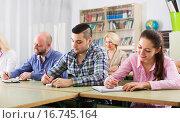 Купить «Students at extension courses», фото № 16745164, снято 20 апреля 2018 г. (c) Яков Филимонов / Фотобанк Лори
