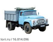 Купить «Old blue truck», фото № 16814096, снято 20 июля 2018 г. (c) easy Fotostock / Фотобанк Лори