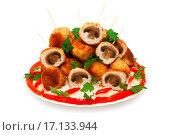 Купить «meat balls chicken fillet stuffed with mushrooms», фото № 17133944, снято 22 апреля 2019 г. (c) easy Fotostock / Фотобанк Лори