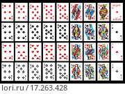 Купить «Set of playing card close up», фото № 17263428, снято 18 июня 2018 г. (c) easy Fotostock / Фотобанк Лори