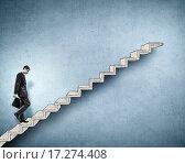 Купить «Up the career ladder», фото № 17274408, снято 21 сентября 2019 г. (c) Sergey Nivens / Фотобанк Лори
